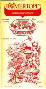 Romertopf voorblad brochure 1971